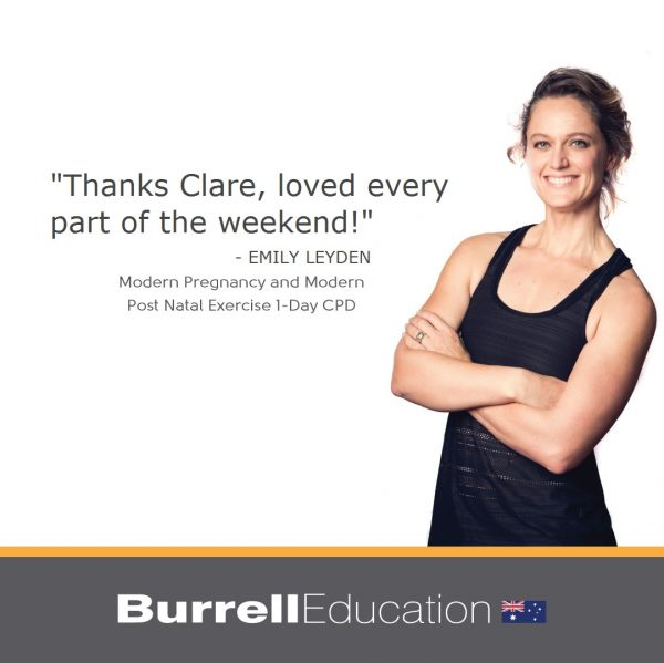 Modern pregnancy exercise participant thanks Clare for the weekend
