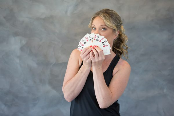 Charlotte May Downey stylist holding all the cards