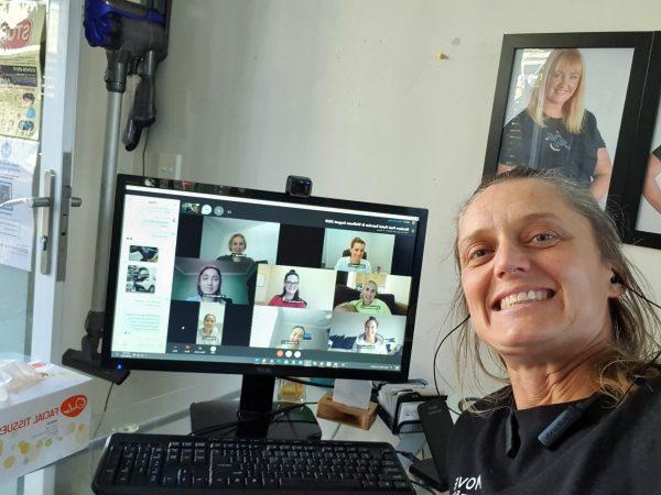 Clare Hozack online virtual live courses participants selfie