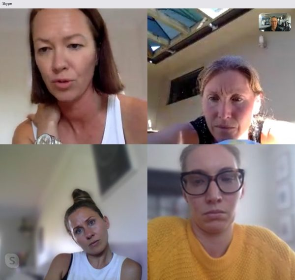 Women's health study group in action on Zoom